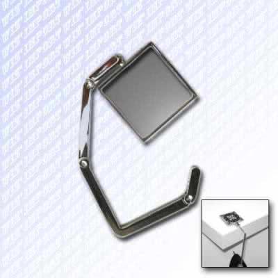 Accroche sac carré pliable en métal brossé vierge