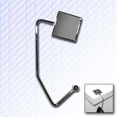 Accroche sac vierge à crochet carré en métal brossé